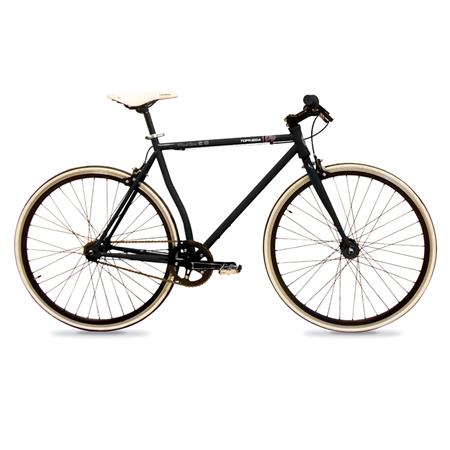 "BICICLETA MEDIA CARRERA FIXIE 28"" NEGRA - 328015NEG"